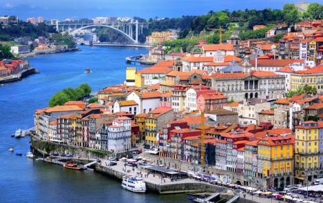 kleurige stad